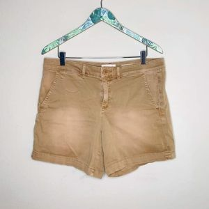 Anthropologie Chino Khaki Shorts